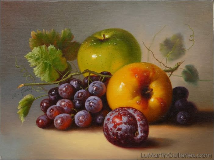 Amazing still-life oil paintings of enticing fruits by California artist…