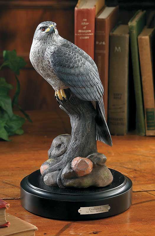 Wildlife Sculpture | Goshawk Figurine Sculpture by Phil Galatas
