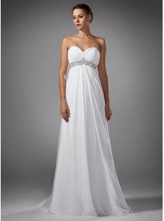 Bröllopsklänningar - $163.99 - Väldet Hjärtformad Sopa Tåg Chiffong Bröllopsklänning med Rufsar Pärlbrodering  http://se.dressfirst.com/Vaeldet-Hjaertformad-Sopa-Tag-Chiffong-Broellopsklaenning-Med-Rufsar-Paerlbrodering-002004156-g4156