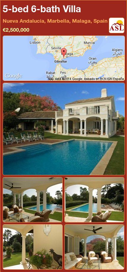 5-bed 6-bath Villa in Nueva Andalucía, Marbella, Malaga, Spain ►€2,500,000 #PropertyForSaleInSpain