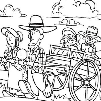 Pioneer girl coloring pages sketch coloring page for Lds pioneer coloring pages