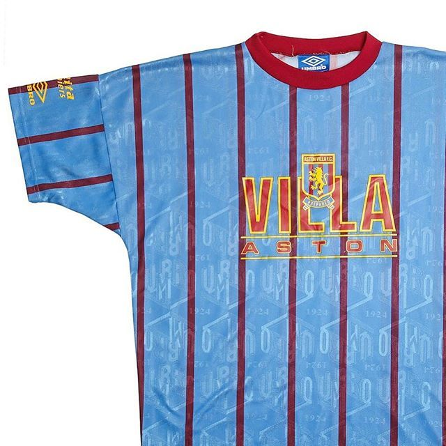 75229e1efd3 the print on that 90s Aston Villa x Umbro training shirt Link in bio ...