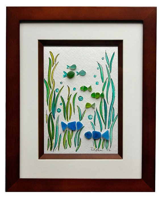 sea glass fish art