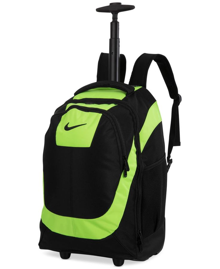 nike rolling backpack red