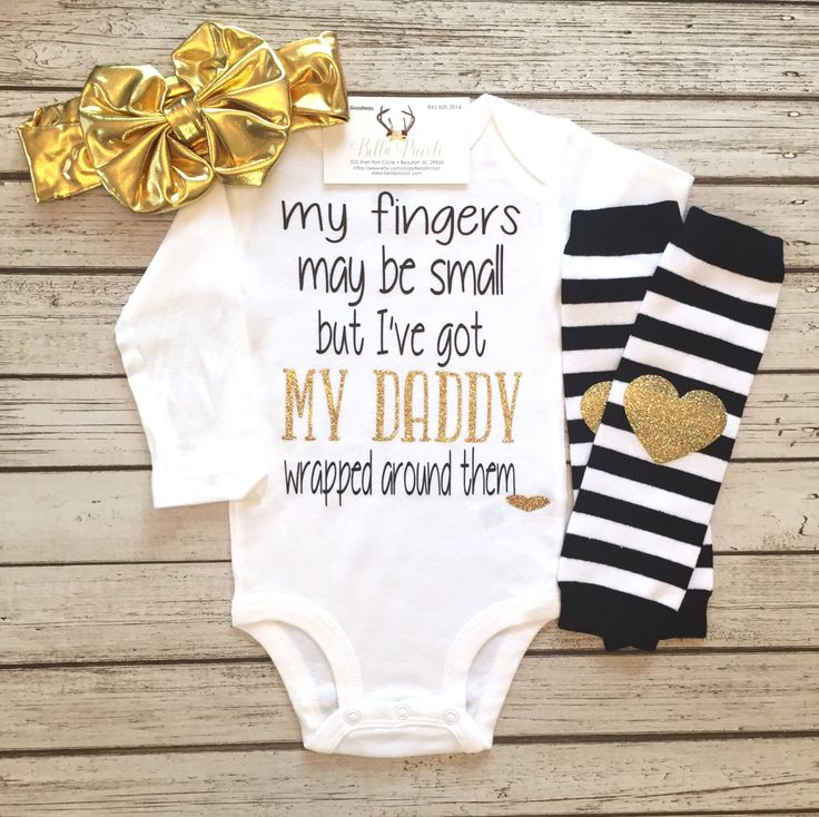 A personal favorite from my Etsy shop https://www.etsy.com/listing/492124367/baby-girl-clothes-my-fingers-may-be