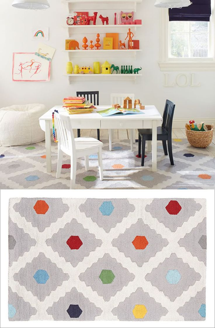 Multi Dot Rug By Pottery Barn Kids 10 Colorful Rugs To Brighten Up Any Kids  Room