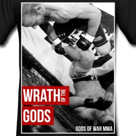 Check out the latest Little Red Creative Tshirt Design featuring Gods of War Fighter: Phil Else!  #mma #tshirt #menswear #mensfashion #cagefighting #fighter
