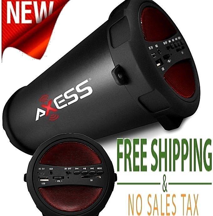 Wireless Bluetooth HiFi Speaker Portable Stereo FM Radio Heavy Bass USB SD Card #Axess