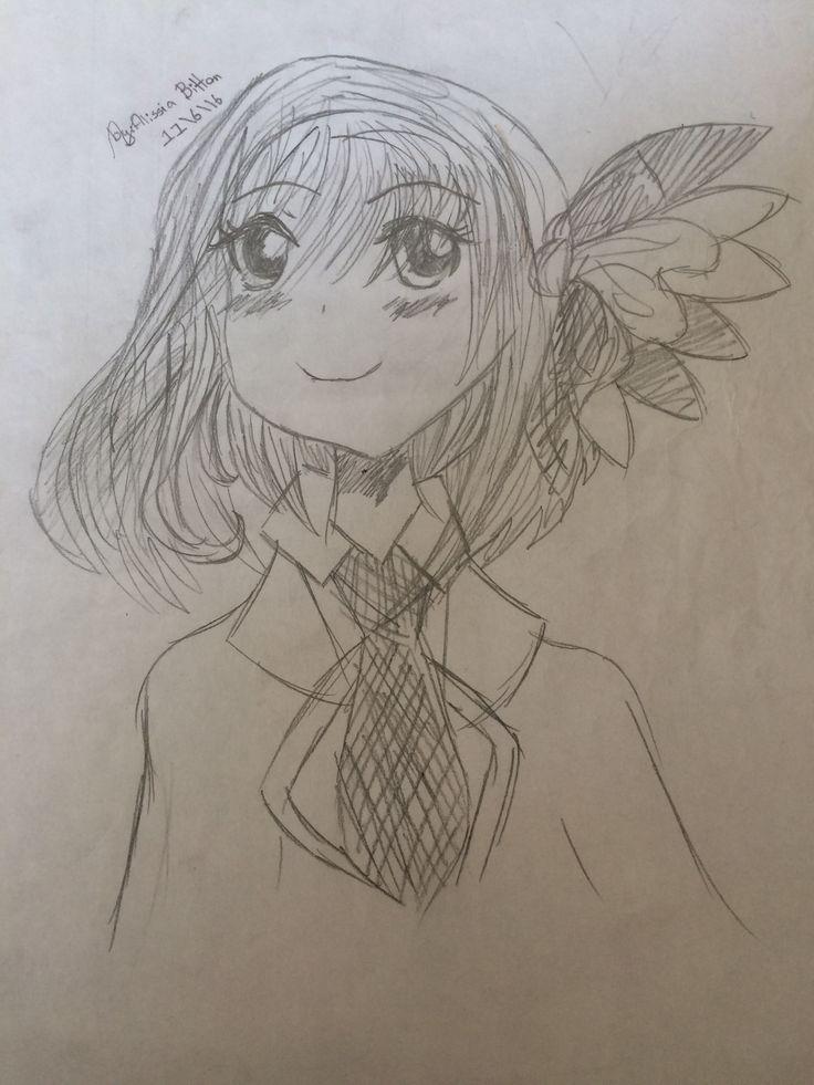 School girl in a uniform!made a long time ago!