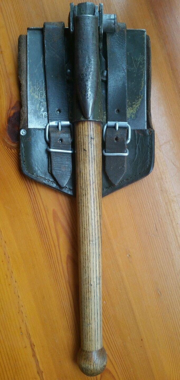 BW Klappspaten alte Ausführung mit Holzstiel von 1964 | eBay