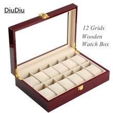 12 сетки деревянный часы коробке высокая Quanlity дисплей Box красный высокий свет лак вуд часы Box мода подарочные коробки 134(China (Mainland))