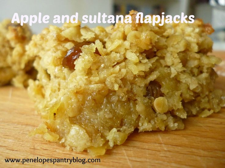 Chewy apple and sultana flapjacks, dairy free, recipe