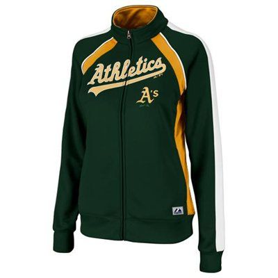 Majestic Oakland Athletics Ladies Great Play Track Jacket - Green