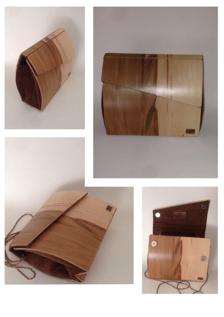 Walnut wood clutch