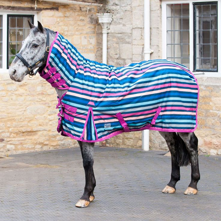 Loveson Pony Candy Stripe 200g Combo Turnout Rug 163 58 99