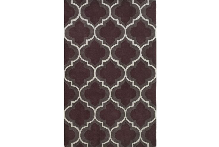 96X120 Rug-Grey Plum Panel for the Game Room