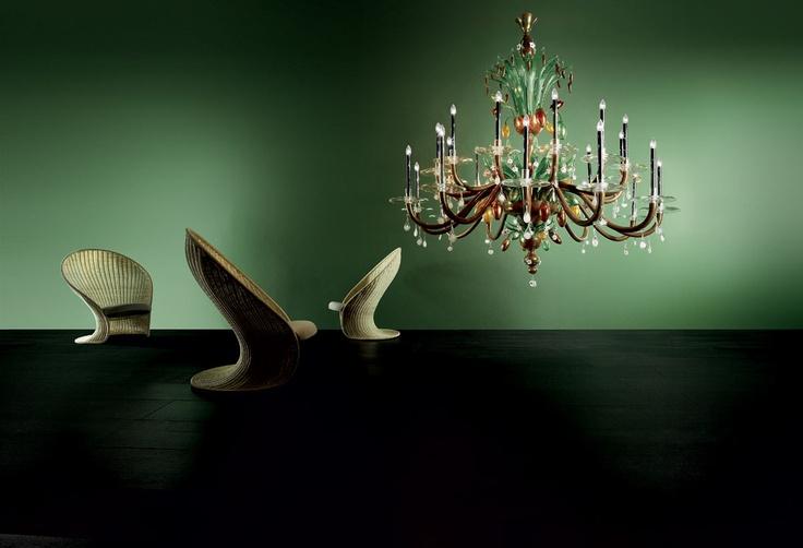 Another piece of art, Glass #chandelier, #Murano #glass, made by Demajoilluminazione.com