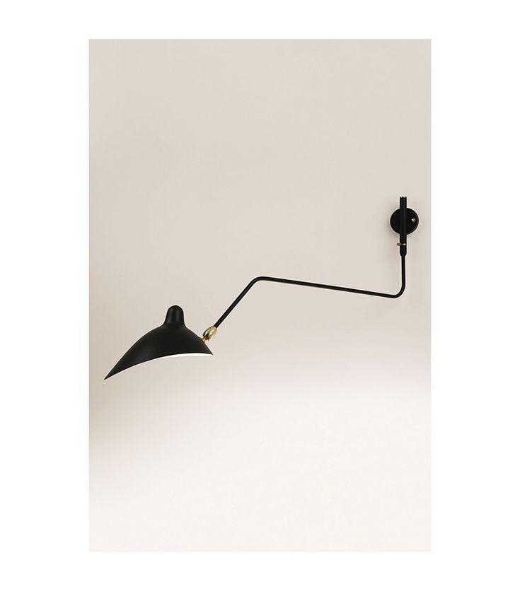 Serge Mouille Applique 1 bras courbe pivotant
