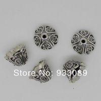 10 мм бусины шапки цветок античное серебро решений для ювелирные изделия 10 шт. 66 - 1