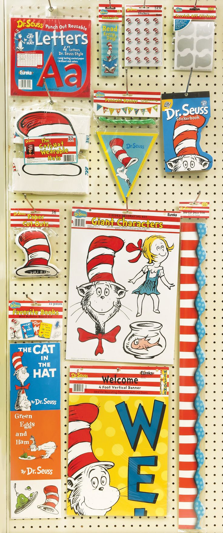 Dr Seuss classroom decorations, cat in the hat kids decorations, classroom  decor