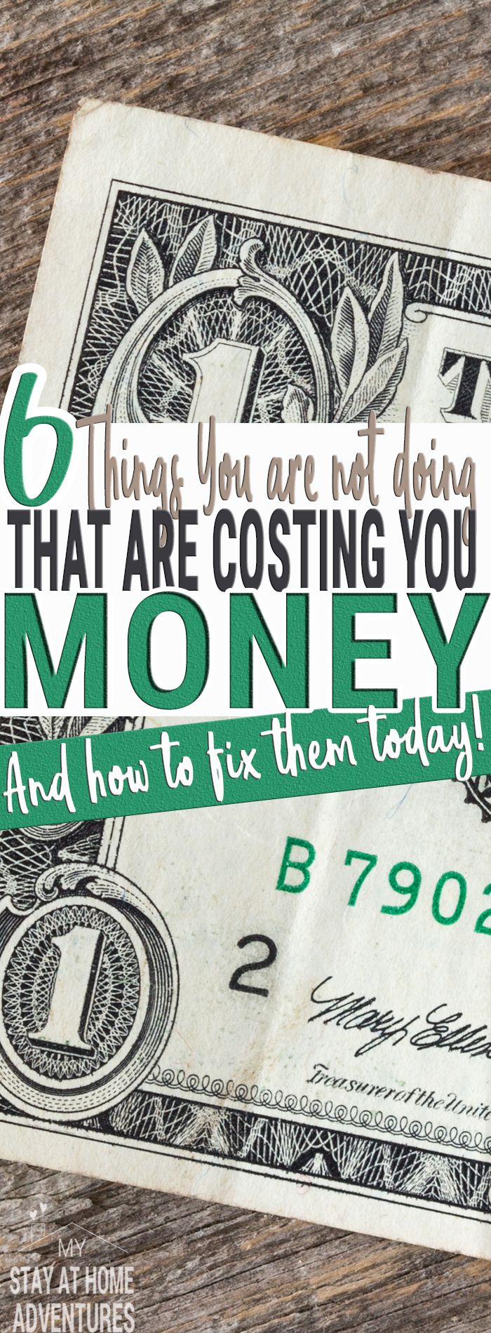 Stop what you are not doing because it is costing you money. Check out 6 things are not doing right now that are costing money as you read this!