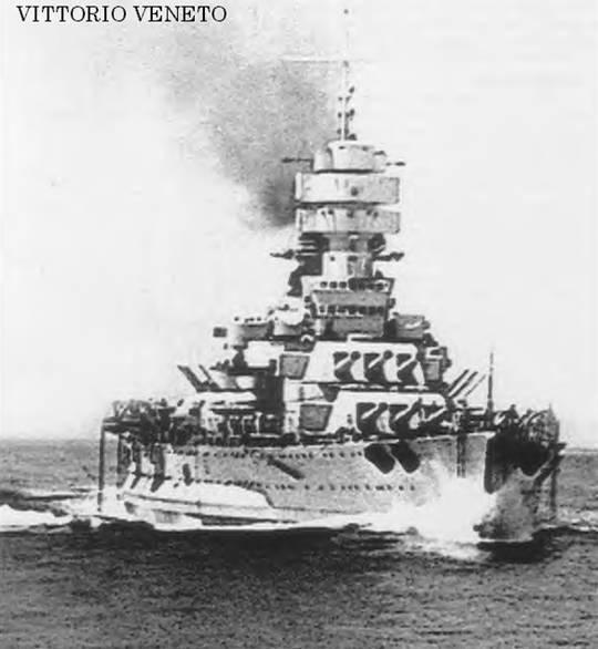 15 in Italian battleship Vittorio Veneto - sister to Littorio and flagship at the Matapan defeat in 1941.feb16