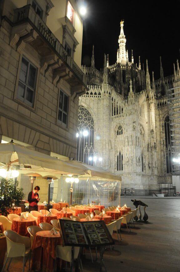 Milan, Italy Restaurant and Duomo