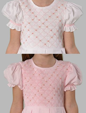 Pink Birthday girl dress Southern style smocked dress