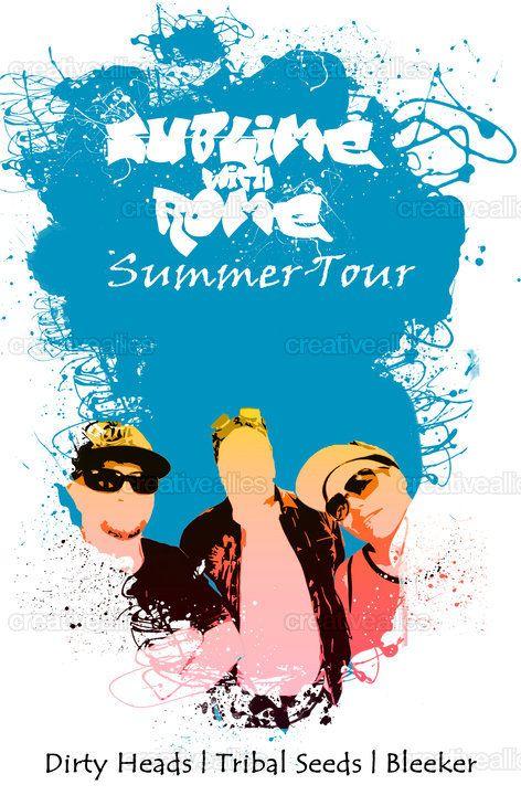 Sublime+with+Rome's+Summer+Tour+Print+by+Ronaldo+Lopez+Jr.+on+CreativeAllies.com