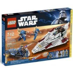 309-piece kit includes a starfighter, Separatist speeder, and two Single Trooper Aerial Platforms (STAPs). For ages 7 to 12.
