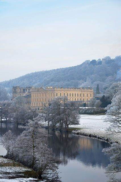 8 Stunning U.K. Estates That Are Even Better Than Downton Abbey #refinery29  http://www.refinery29.com/2014/10/76119/british-film-locations#slide8  Chatsworth HouseWhere You've Seen It: The Duchess, Pride & Prejudice If Mr. Darcy won't come to you, then you come to Mr. Darcy. This Peak District estate doubles as his Pemberley home. Indeed, the 35,000-acre estate has plenty to swoon over, including gardens and Christmas festivities. Chatsworth House, Bakewell, Derbyshire; 012 4656 5300.