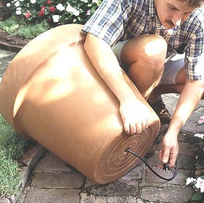 DIY Fountain out of a Regular Pot Step by step instructions for making a fountain out of a regular pot.
