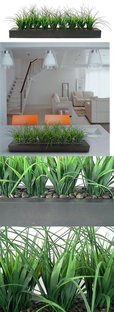 Synthetic Grass 181031: Laura Ashley Green Grass In Contemporary Wood Planter -> BUY IT NOW ONLY: $113.58 on eBay!