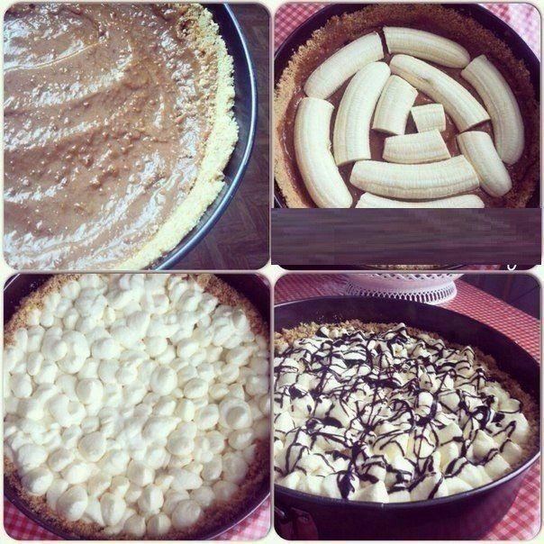 """""""Banoffee pie"""" - настоящее банановое блаженство.<br><br>Готовится так просто, как бутерброд - нарезал,…"""