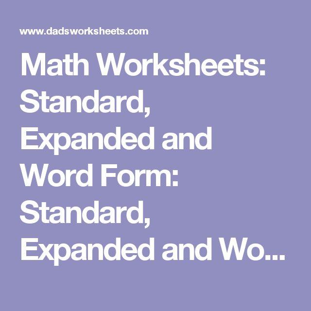 Place Value Worksheets : place value worksheets expanded form ...