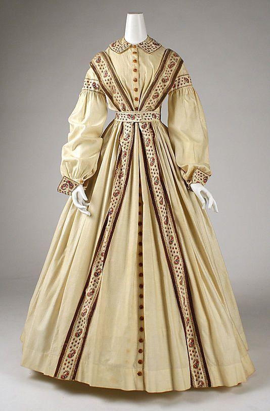 Peignoir Date: 1860–65 Culture: American Medium: cotton