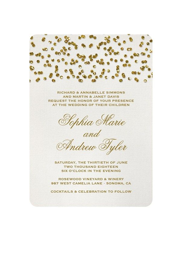 Glamorous wedding stationery