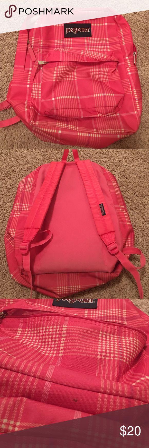 Jansport Backpack Pink jansport backpack. Minor spots (pictured above) and general wear and tear/ discoloration Jansport Bags Backpacks