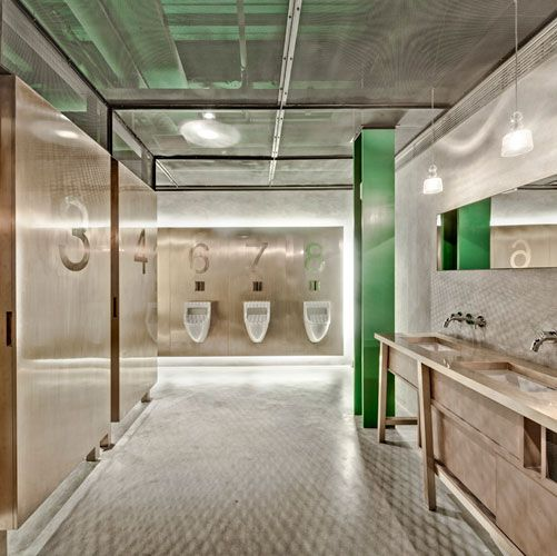 bathroom at restaurant new heights shanghai - Restaurant Bathroom Design