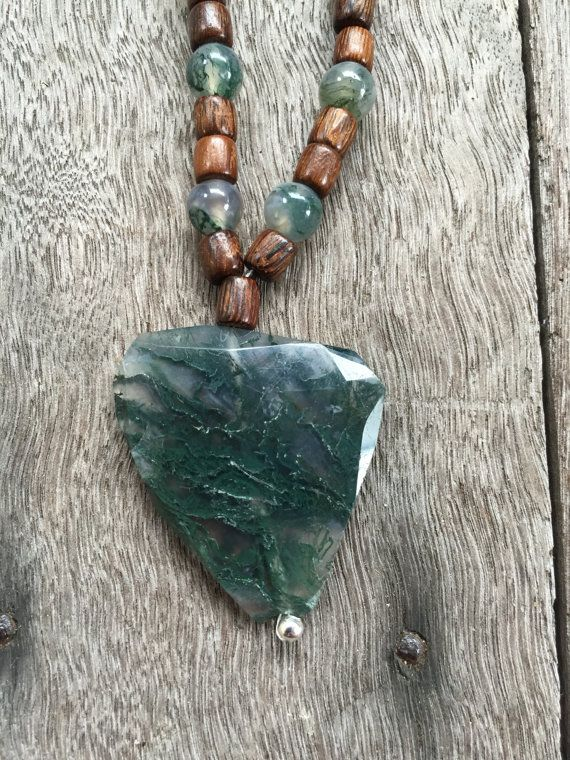 Hey, I found this really awesome Etsy listing at https://www.etsy.com/listing/255007509/moss-agate-necklace