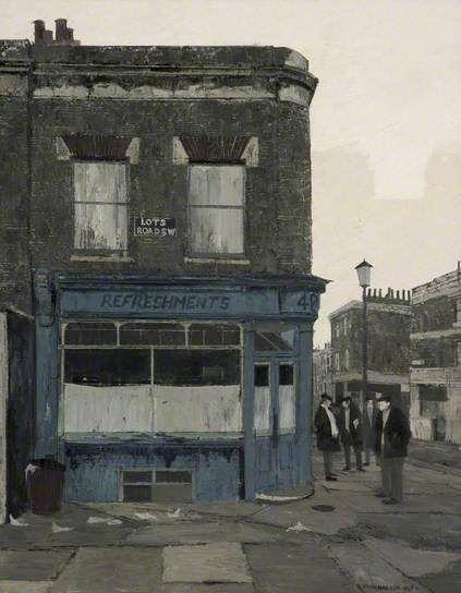 Tea Break, Lots Road, Fulham Brian Hagger 1935-2006