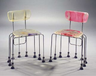 'broadway 543 chairs' designed by gaetano pesce for bernini (1993)