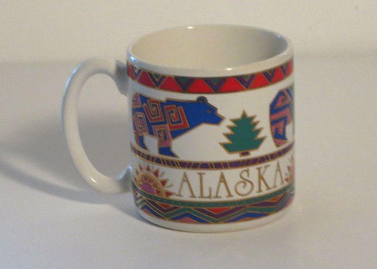 coffee mug Alaska  bears sun geometric southwestern design multi colors $22.99