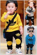 2015 brand new ragazzi insieme dei vestiti per bambini bambini del vestito di sport tuta ragazze t shirt pantaloni gogging felpa abbigliamento casual(China (Mainland))