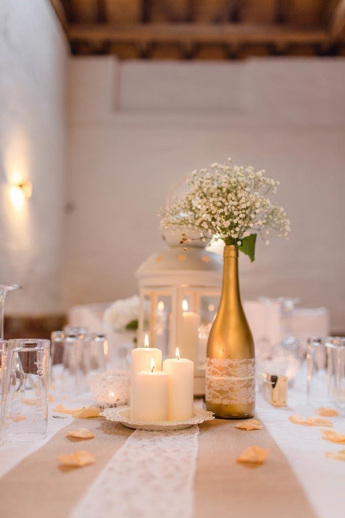 #DIY #Vintage #Tischdeko / #Tischdekoration / #Centerpiece bei der #Hochzeit