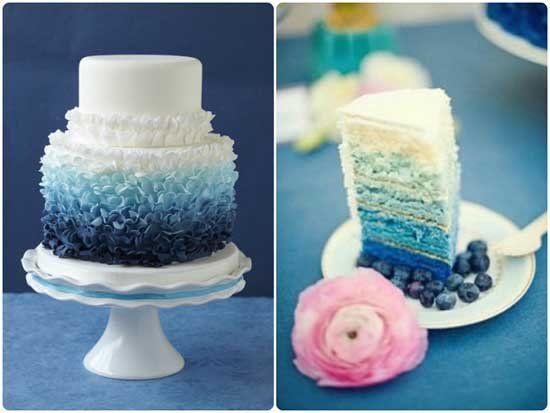 05 Ombre Hochzeit blau hochzeitstorte Heidelbeere ausgefallen Ombre Hochzeit – Neu Hochzeitstrends 2014