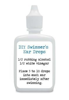 Prevent Ear Infections This Summer … Make Your Own Swimmers Ear Drops