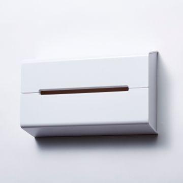 ideaco/ティッシュケース WALL ホワイト - インテリア雑貨 - 通販カタログ - スタイルストア