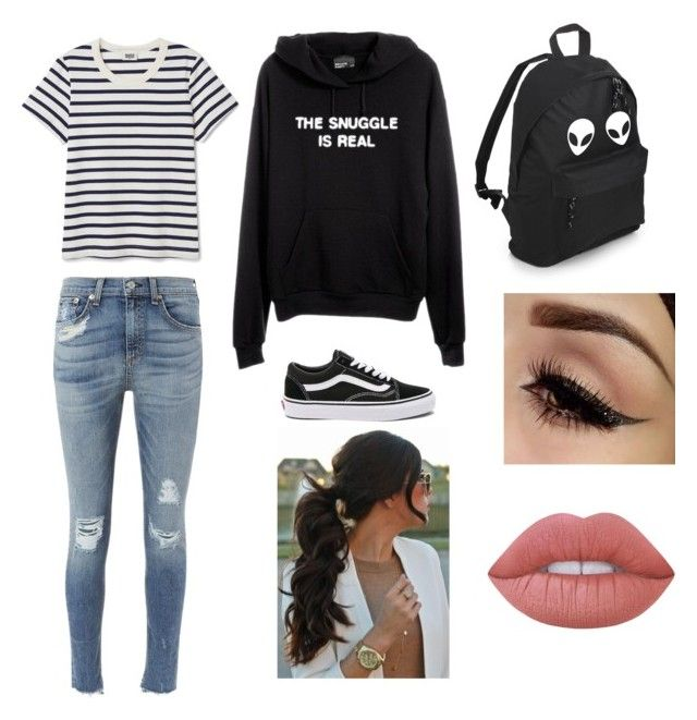 Casual by gabrielle-acasio on Polyvore featuring rag & bone, Vans and Lime Crime
