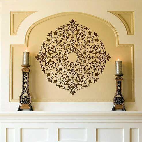 Ceiling Stencils | Arabesque Ceiling Medallion | Royal Design Studio